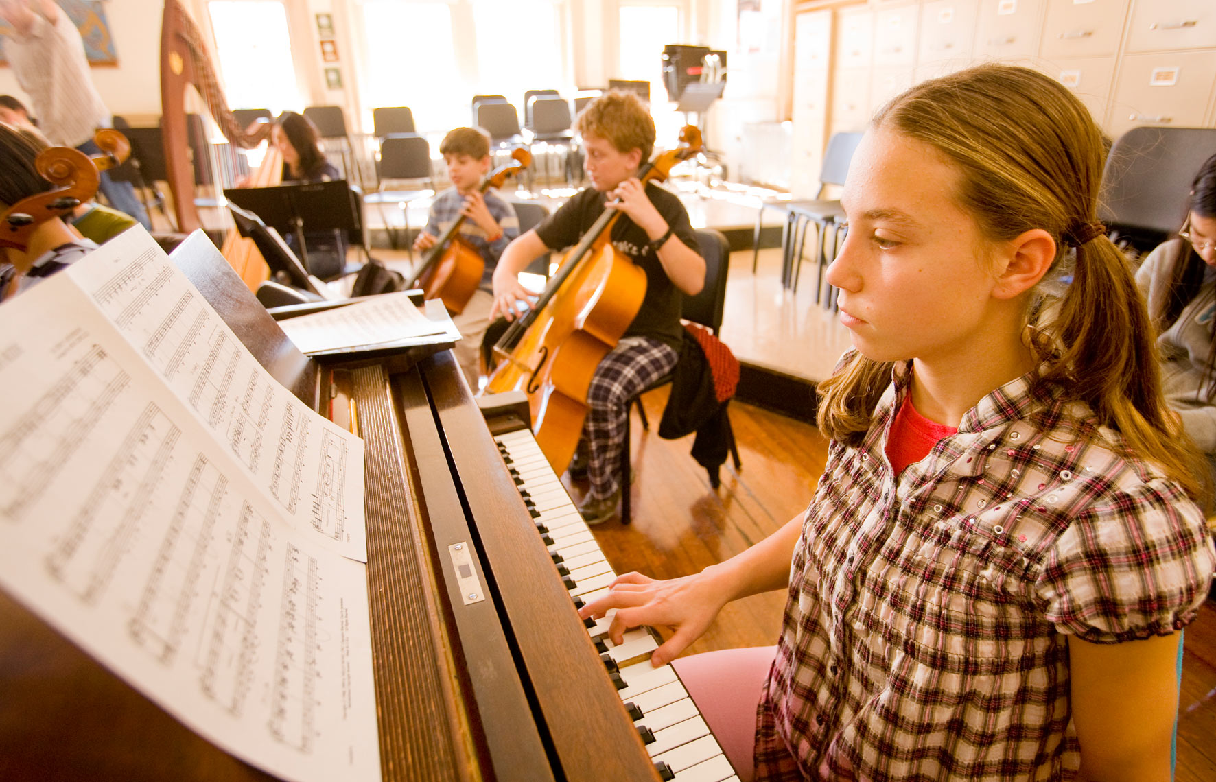 Germantown Friends School music class Michael Branscom Photography.