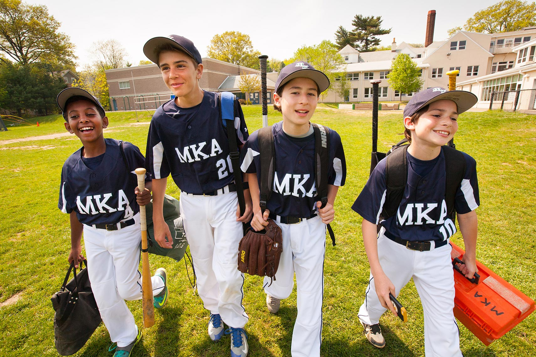 Montclair Kimberly Academy middle school baseball boys Michael Branscom Photography..