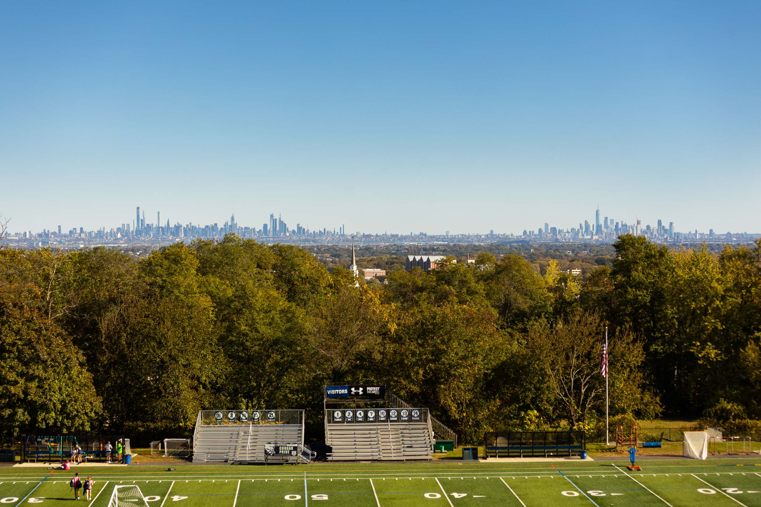 Montclair Kimberly Academy New York skyline field Michael Branscom Photography.