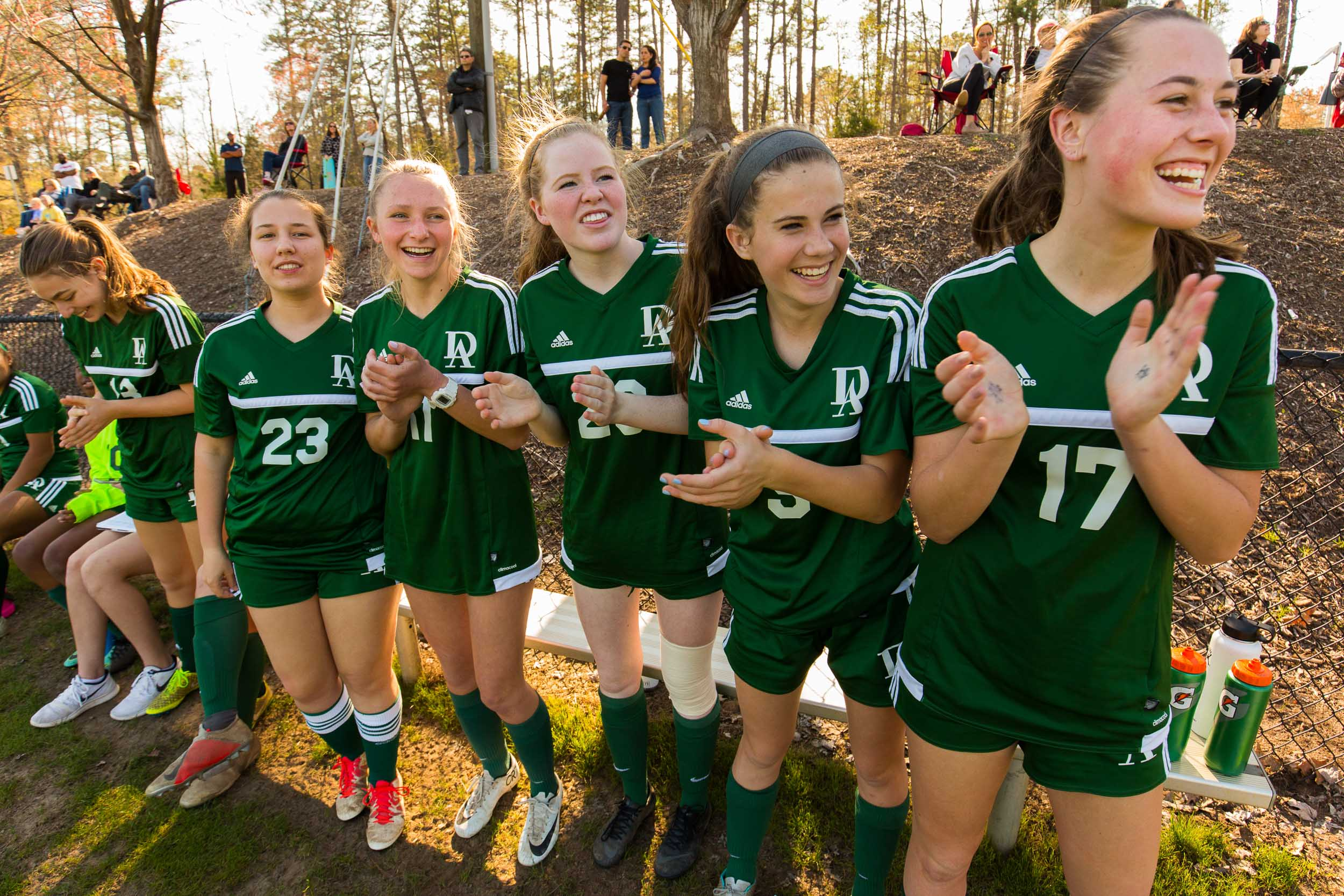 Durham Academy girls soccer Michael Branscom Photography.