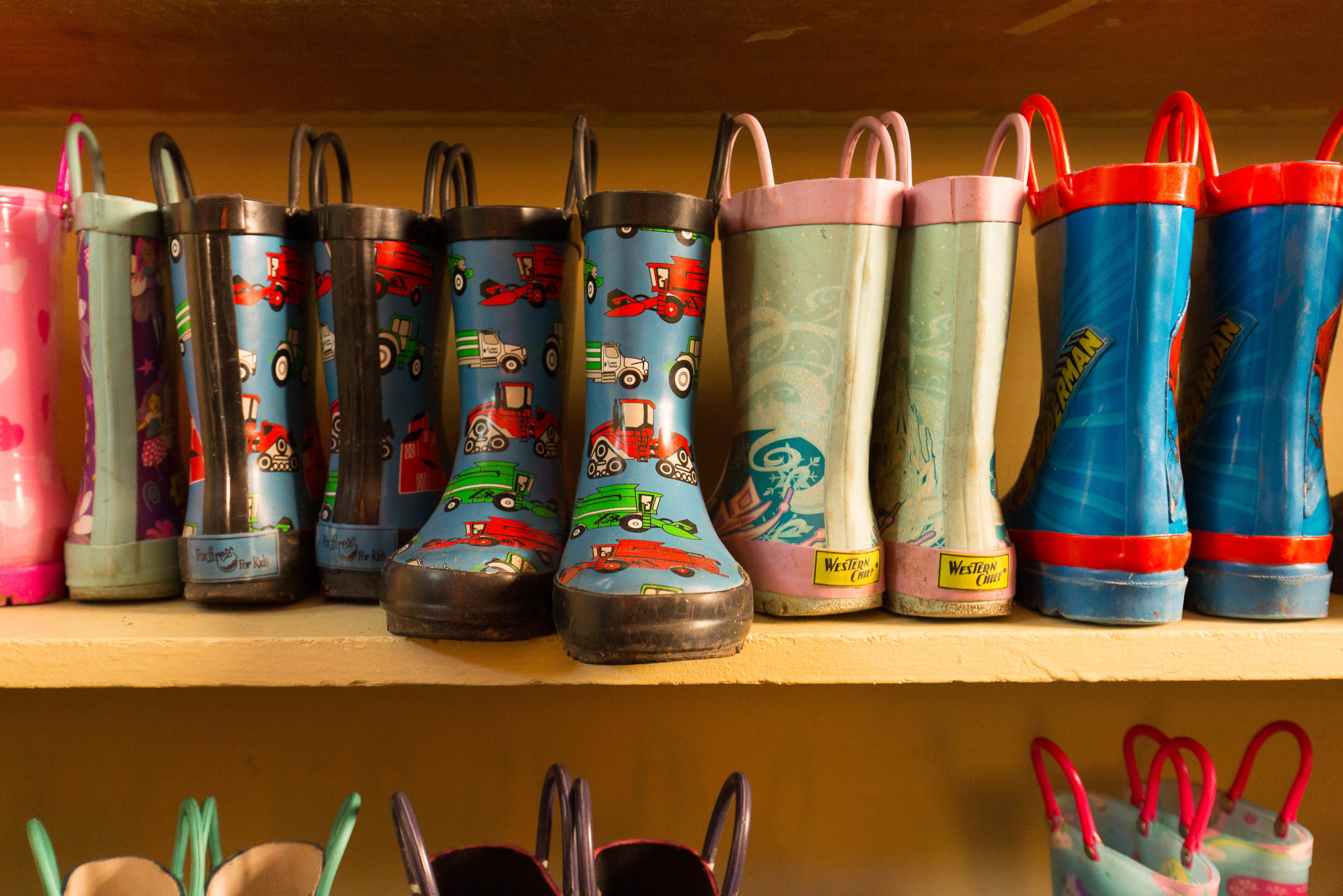 Westfield Friends School rain boots Michael Branscom Photography.