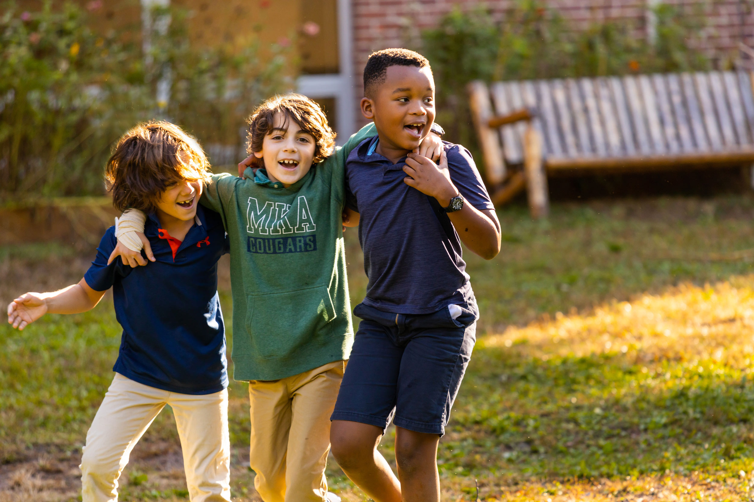 Montclair Kimberly Academy primary school recess boys Michael Branscom Photography