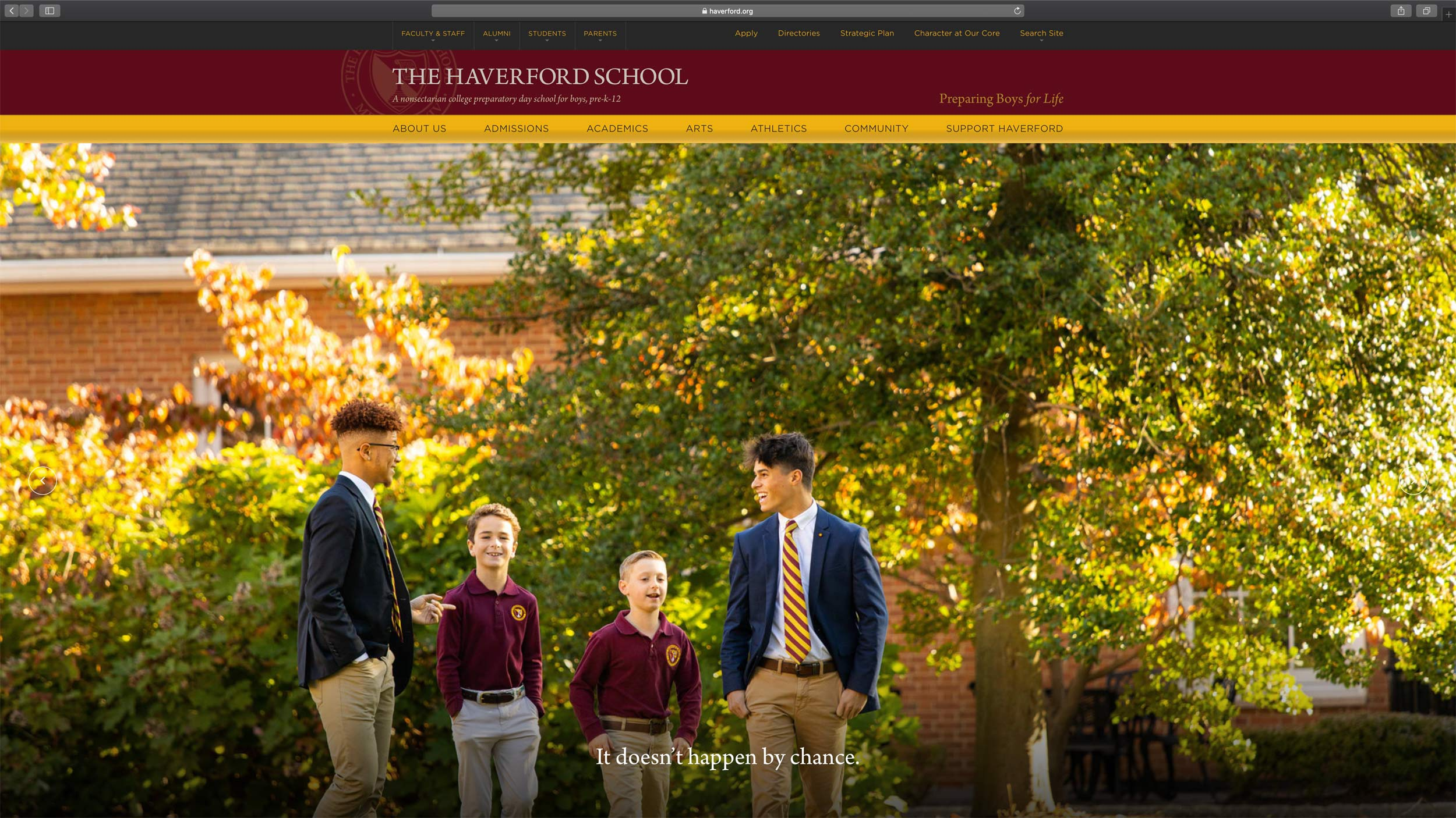 The Haverford School Website, Michael Branscom Photography.