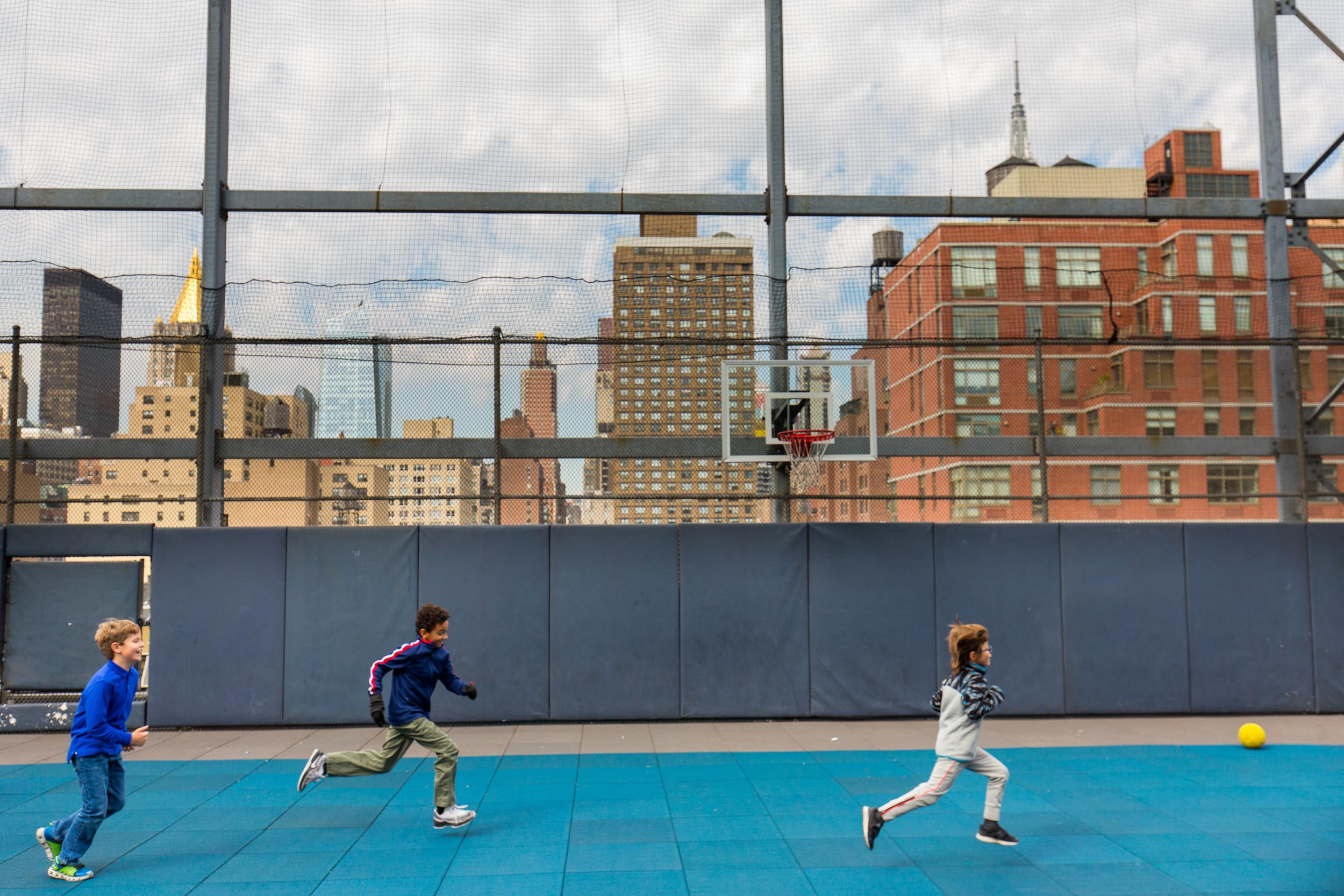 Churchill School New York rooftop recess Michael Branscom Photography.
